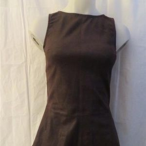 DL 100% FRENCH STRETCH LAMB LEATHER BROWN TOP XS